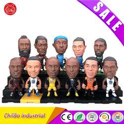 OEM de PVC de 3D de América (U. S. A.) Figuras decoraciones superestrella del baloncesto, ventilador de figuras de acción Doll Modle