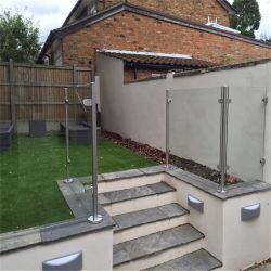 Raccord de verre en acier inoxydable courante de la Main courante / Escalier / piquet de clôture
