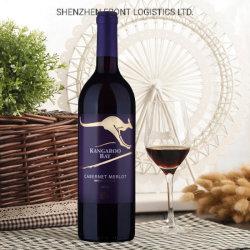 Servicio de transporte de logística de vinos de Australia a China