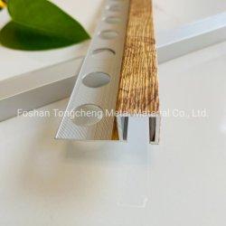 Tongcheng Alumínio de Alta Qualidade Square guarnição de lado a lado com cor de madeira