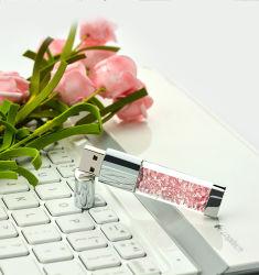 USB Crystal Flash يلتصق بشعار مخصص Crystal PendDrive USB Key