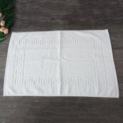 100% хлопок белый ванны коврик полотенце с жаккардовым рисунком логотип для 5-звездочный отель