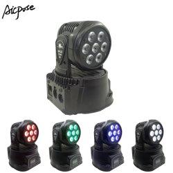 7X12W RGBW 4en1 Lavado Zoom cabezal movible de luz LED
