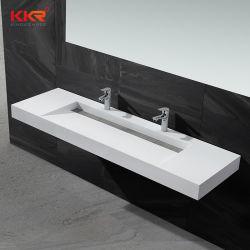 Lavabo di superficie solido della resina di Corian di vanità del dispersore di pietra della stanza da bagno