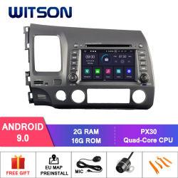 De vierling-Kern van Witson Androïde GPS van de 9.0 Auto DVD voor de Externe Inbegrepen Microfoon van Honda Civic 2006-2011, Ingebouwde Functie TPMS