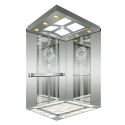 Hotel passageiros usados elevação inicial elevador com aço inoxidável, Cabine