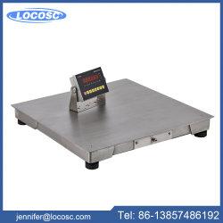 Roestvrij staal 6 het Wegen van Cijfers RS232 Schaal van het Platform van Tcs van de Vloer de Elektronische 1ton 5ton 10ton