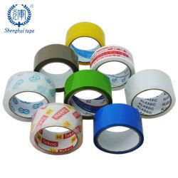Nastro adesivo acrilico dell'imballaggio di sigillamento della scatola di trasporto del nastro del pacchetto di abitudine BOPP OPP con colore di marchio stampato