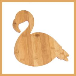 Животных Фламинго бамбука блок для измельчения