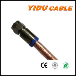TV Signal Cable van CCS Copper CCA CATV RG6 Rg58 Rg59 Rg11 Coaxial met rf Compression Connector