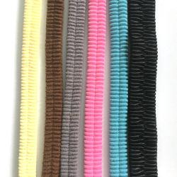 幅1-6cmのBuckskinのスエードの覆いの伸縮性があるベルト、二重層縫うベルト伸縮性があるベルトは、伸縮性があるベルトを包む