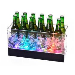 Benna di ghiaccio acrilica con gli indicatori luminosi del LED
