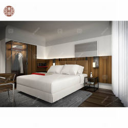 맞춤형 저렴한 커플 침실 세트 우아한 킹 사이즈 호텔 침실 가구 세트