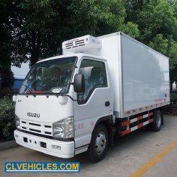 Isuzu 4X2 3 톤 15 Refrigerator Unit Freezer Truck Cbm에 의하여 냉장되는 트럭 열 임금