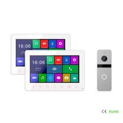 HD 1080P 7 Zoll inländisches Wertpapier-Türklingel-videotür-Telefon-neue Screen-7 Zoll verdrahtete Farben-Video-Tür-Telefon-Türklingel-Gegensprechanlage
