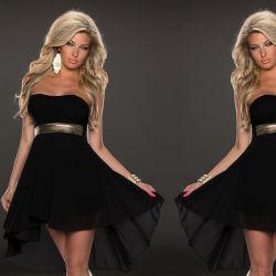 熱い販売の高品質の黒のフラワー・ガールのマキシの服の卸売