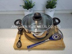 24cm Kasserolle mit Bakelit-Griff, EdelstahlCookware, Küche-Geräte