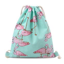Mode de vente à chaud logo personnalisé de promotion sac à dos Sac avec lacet de serrage