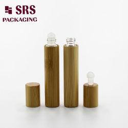 Bolilla 8ml de bambú natural Real de bambú de vidrio botella Caps