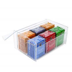Прозрачный акриловый для приготовления чая и кофе мешки контейнер .