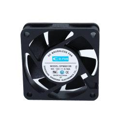 CPU 6015 Dissipador do Aquecedor de Ar do Resfriador de 12V CC de Alta Velocidade do Ventilador de Refrigeração