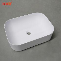 Commerce de gros acrylique blanc Surface solide salle de bain haut de la vanité lavabo