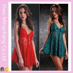 Lingerie sexy pour les femmes de vêtements de nuit Nuisette dentelle robe de vêtements de nuit