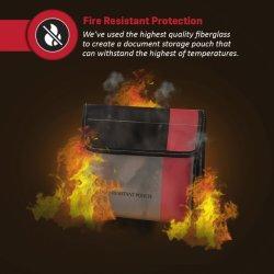 Résistant au feu Sac Caisse Document Heavy Duty retardateur de fibre de verre Thread Sac ignifugé/fichier bancaire/important porte-document