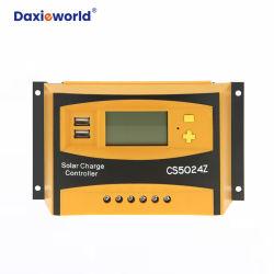 PWM USB를 가진 격자 변환장치 책임 관제사 떨어져 태양 잡종을%s 태양 관제사 60A 전압 12V/24V 자동차 1 년 보장