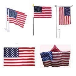 Nós bandeira da onda do lado americano/ Body Cape Pavilhão/ carro bandeira da janela/ jardim pavilhão/ Custom Bandeiras dos EUA