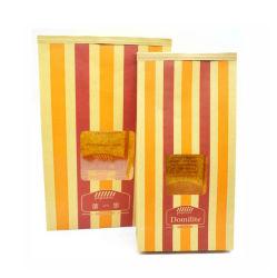 Paquet de papier alimentaire des grains de café de l'étain Tie dessert Sac en papier kraft avec fenêtre