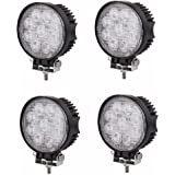 9LED раунда 27Вт Светодиодные рабочего освещения 12V/24V 6000K рабочего освещения прожектора на крыше пятна света автомобиля автомобиль по просёлочным дорогам ATV движении противотуманного фонаря
