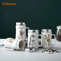 Tampa do espelho caneca criativa Cup Belted Publicidade Cerâmica Cup Dom Padrão Animal