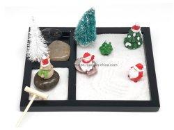 Reeks van de Gift van Kerstmis van de Wenk van het Geluk van de Sneeuwman van de Doos van het Zand van de Tuin van Zen de Goede Goedkope