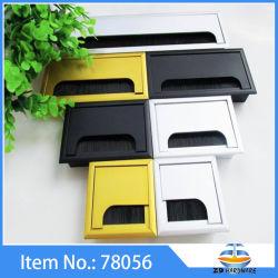Aluminiumbüro-Computer-Schreibtisch-Zeile Kasten-Tabelle-Loch-Deckel-Kabel-Tüllen-Kabel-Anschluss-Draht-Kasten