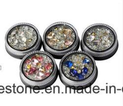 2017 il Rhinestone Mixed di bellezza del contenitore di monili del chiodo dei branelli DIY 3D dei Rhinestones delle decorazioni di arte del chiodo di Strass di natale dei cristalli del chiodo inchioda le decorazioni (NA01)