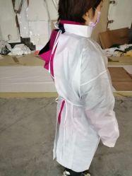 ميدعة مستهلكة [نونووفن] يشبع جناح مسمّ دقيق بوليثين أمان [بروتكتيف كلوثينغ] عملية لباس داخليّ عباءة بيضاء عالة لباس داخليّ دعوى ملابس