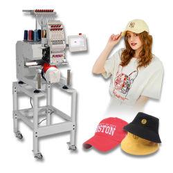 Einzelne flache Kleid-Kissen-Tuch-Beutel-Shirt-Schutzkappen-Computer-Stickerei-Hauptmaschine computergesteuerte Monogramm-Maschine