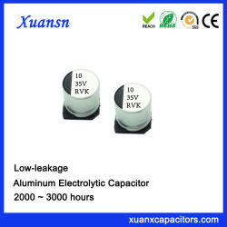 SMD алюминиевые электролитические конденсаторы 10ОФ 35V низкий уровень утечки