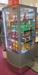 4 sidle стеклянные двери с 3 полки для отображения Dink прилавок-витрина напитков во всех сторон