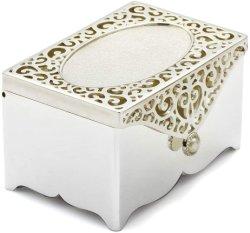 Caixa de jóias Personalizado Caixa filigrana, gravado mãe prateado de Pearl Trinket Box