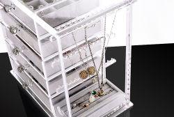 Qcy belas jóias em acrílico transparente de alta qualidade caixa de exibição