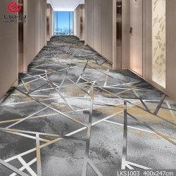 Salão de banquetes Restaurante Usar Padrão impresso e tapetes de nylon parede a parede Tapete de impressão usado para piscina Hotel Casa e Escritório Tapete impresso
