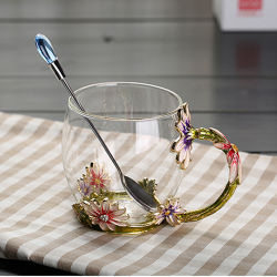 도매 사기질 유리제 컵 3D 색깔 유리