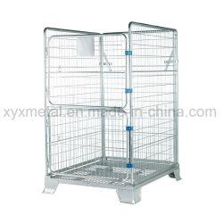 Tamaño europalet de almacenamiento de acero reforzado de la jaula de paquetería