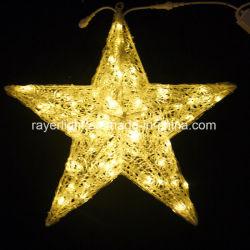 Stella esterna di illuminazione di natale della decorazione della stella del LED