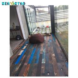 Recuperó el viejo barco de madera pisos de madera maciza de la decoración del hotel