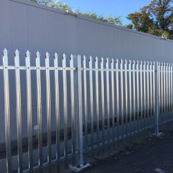 Galvanizado en caliente W Pale Steel Palisade valla de seguridad