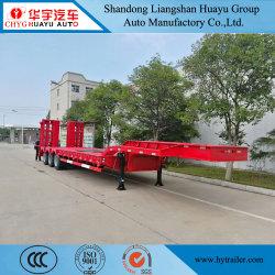 굴삭기 운송용 Tri Axle Lowbed 트레일러/세미 트레일러 트럭 사용