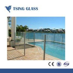 Effacer/couleur/plat/plié/façonné en verre de sécurité trempé //Le verre trempé pour la table haut/les escaliers et rampes/mur-rideau/Salle de douche